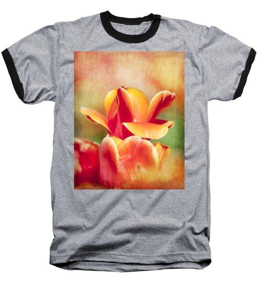 Tangerine Tulip Sorbet Baseball T-Shirt