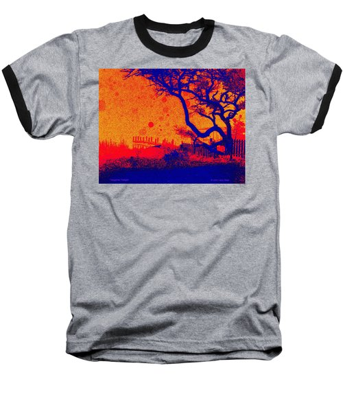 Tangerine Twilight Baseball T-Shirt