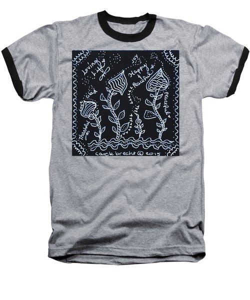 Tangle Flowers Baseball T-Shirt
