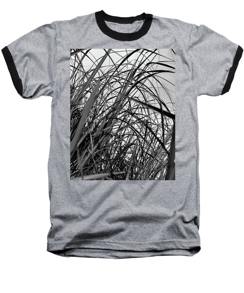 Baseball T-Shirt featuring the photograph Tangled Grass by Susan Capuano