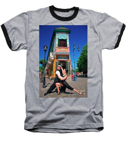 Baseball T-Shirt featuring the photograph Tango At Caminito by Bernardo Galmarini