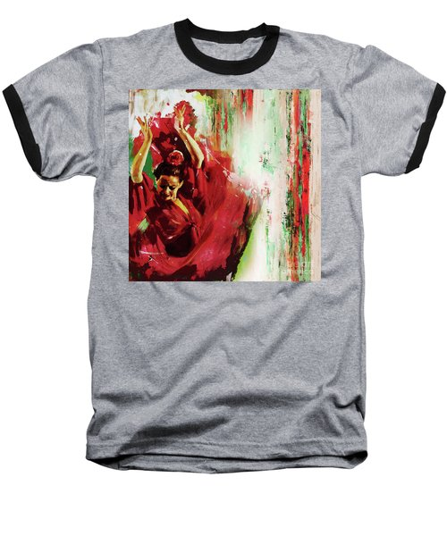 Baseball T-Shirt featuring the painting Tango Dance 45g by Gull G
