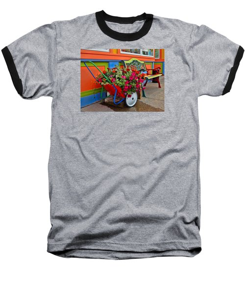 Baseball T-Shirt featuring the photograph Tannersville Color Blast by Nancy De Flon