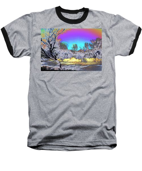 Tanque Verde Wash Abstract Baseball T-Shirt by M Diane Bonaparte