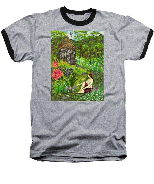 Tansel's Garden Baseball T-Shirt by FT McKinstry