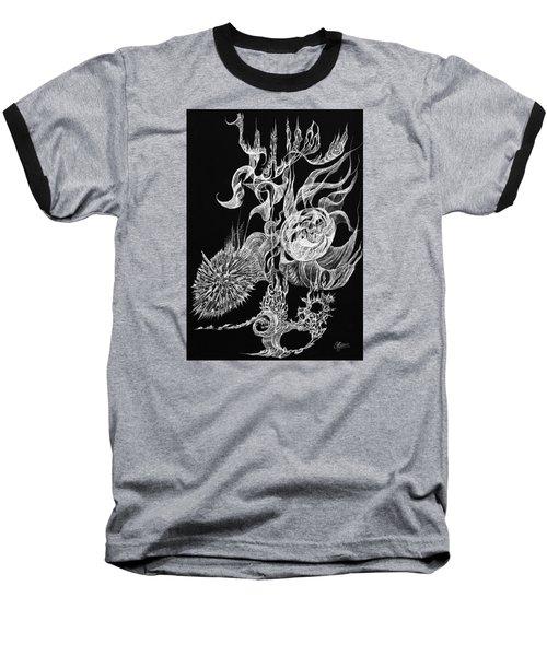 Tansight Burst Baseball T-Shirt by Charles Cater