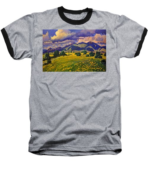 Taos Fields Of Yellow Baseball T-Shirt