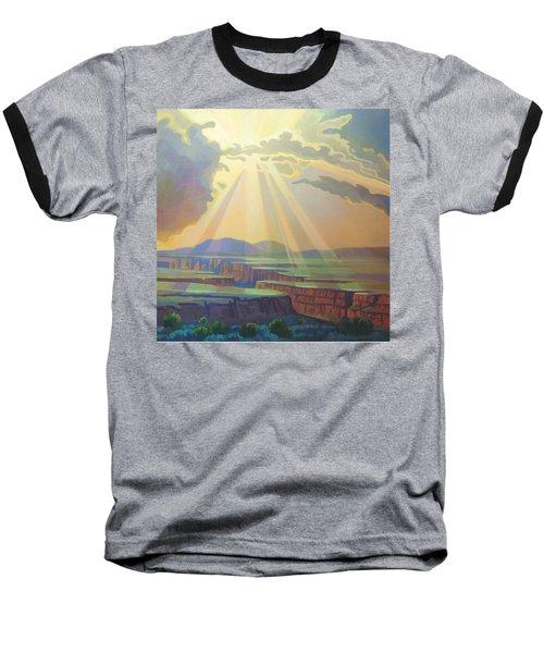 Taos Gorge God Rays Baseball T-Shirt