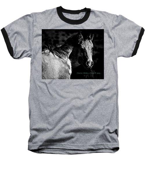 Taos Pony In B-w Baseball T-Shirt