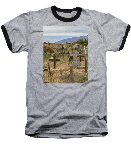 Taos Pueblo Cemetery Baseball T-Shirt