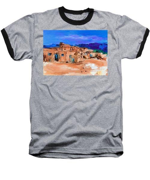 Taos Pueblo Village Baseball T-Shirt