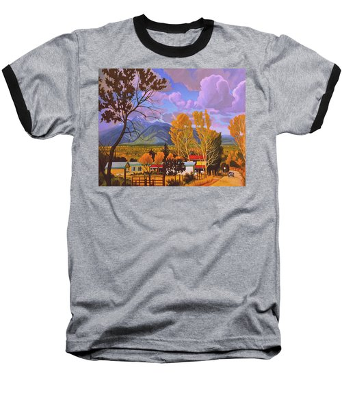 Taos Red Roofs Baseball T-Shirt