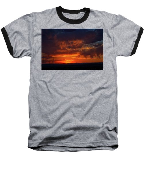 Taos Virga Sunset Baseball T-Shirt by Jason Coward