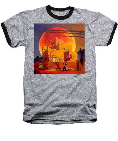 Taos Wolf Moon Baseball T-Shirt