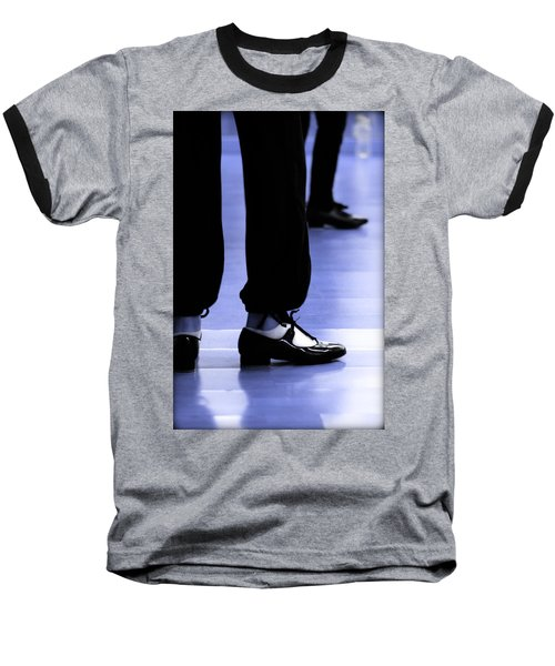 Tap Dance In Blue Are Shoes Tapping In A Dance Academy Baseball T-Shirt