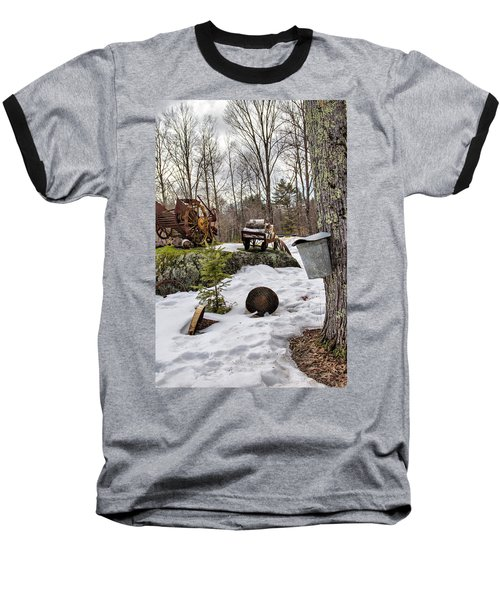 Tapping A Maple Sugar Tree Baseball T-Shirt