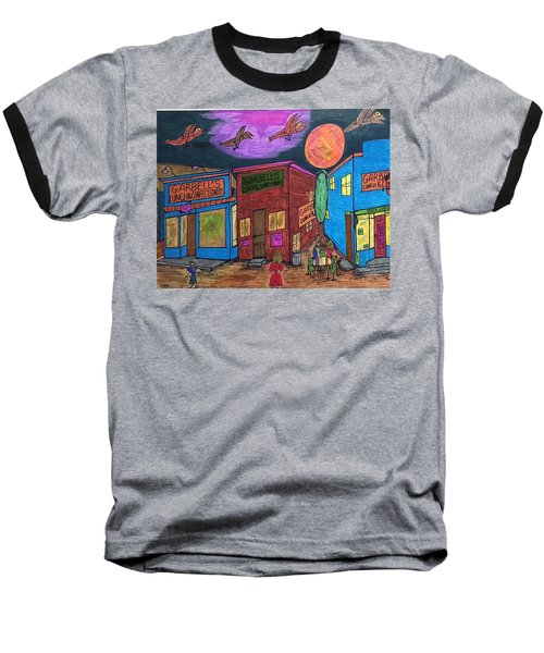 Baseball T-Shirt featuring the drawing Garbell's Lunch And Confectionery by Jonathon Hansen
