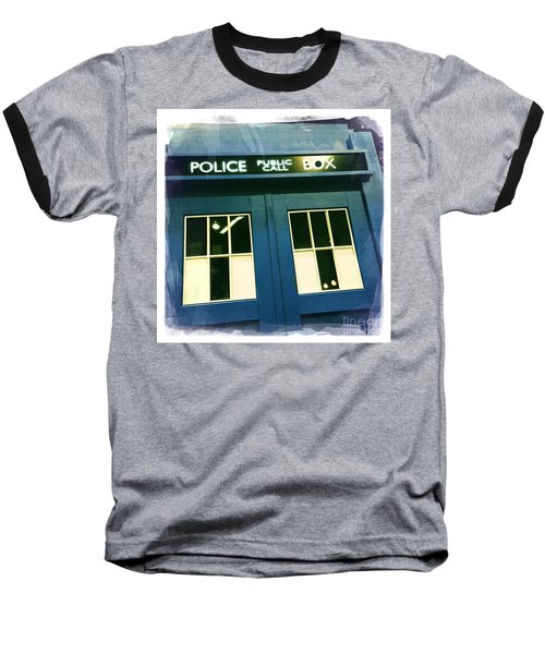 Tardis Dr Who Baseball T-Shirt