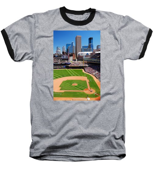 Target Field, Home Of The Twins Baseball T-Shirt by James Kirkikis