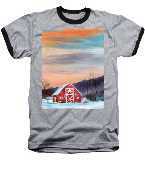 Target Range Barn Baseball T-Shirt by Larry Hamilton