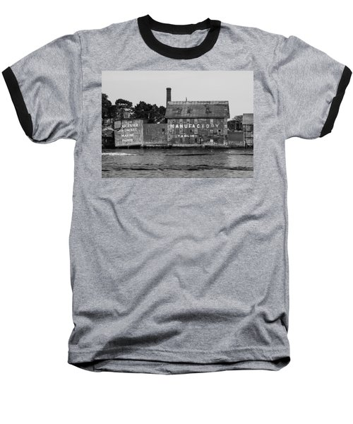 Tarr And Wonson Paint Manufactory In Black And White Baseball T-Shirt by Brian MacLean