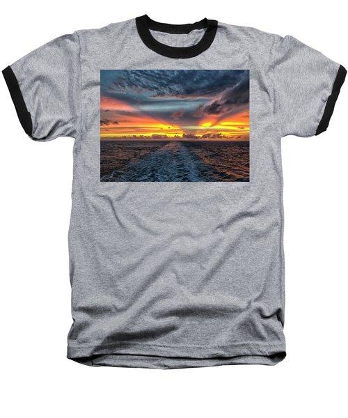 Tasman Sea Sunset Baseball T-Shirt