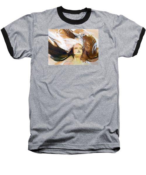 Baseball T-Shirt featuring the painting Tatiana by Ed  Heaton
