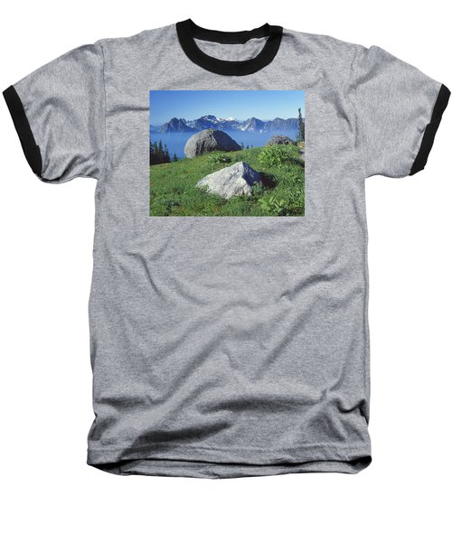 1m4862-tatoosh Range And Mt. St. Helens  Baseball T-Shirt