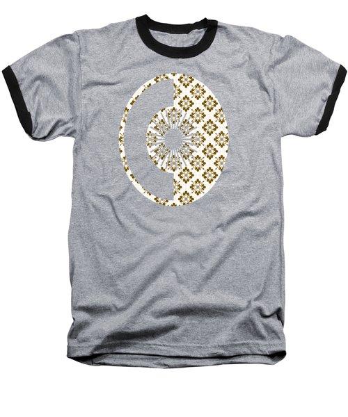 Taupe Floral Pattern Baseball T-Shirt