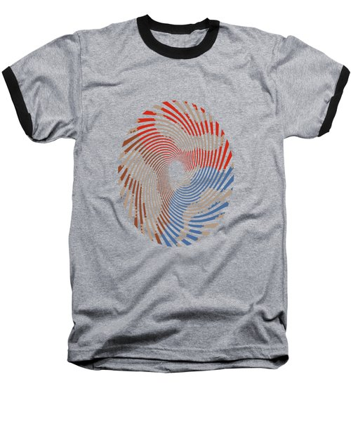 Taupe Ring Pattern Baseball T-Shirt
