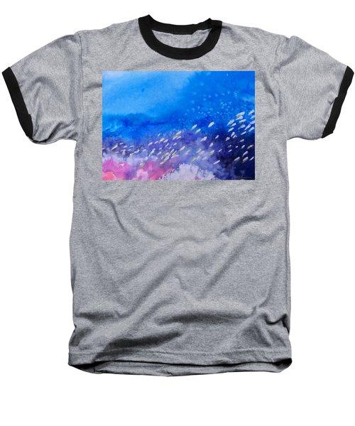 Baseball T-Shirt featuring the painting Tavu Na  Siki by Ed Heaton