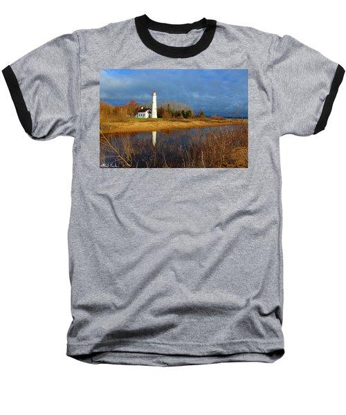 Sturgeon Point Lighthouse Baseball T-Shirt