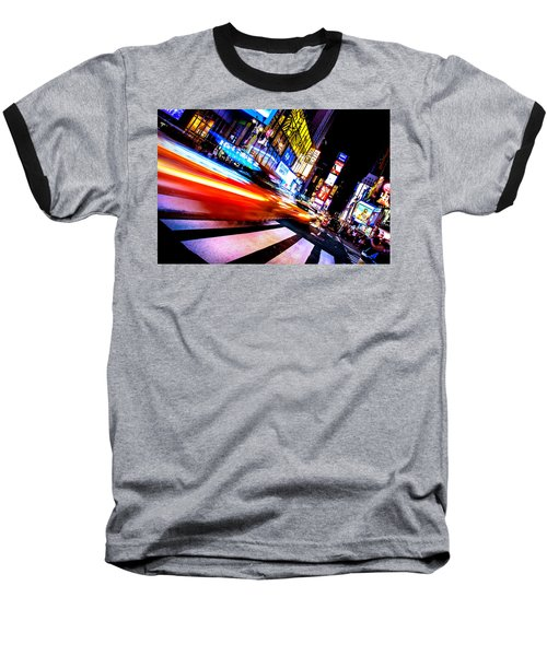 Taxis In Times Square Baseball T-Shirt by Az Jackson