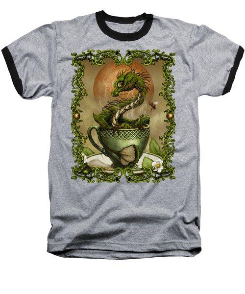 Baseball T-Shirt featuring the digital art Tea Dragon T- Shirt by Stanley Morrison