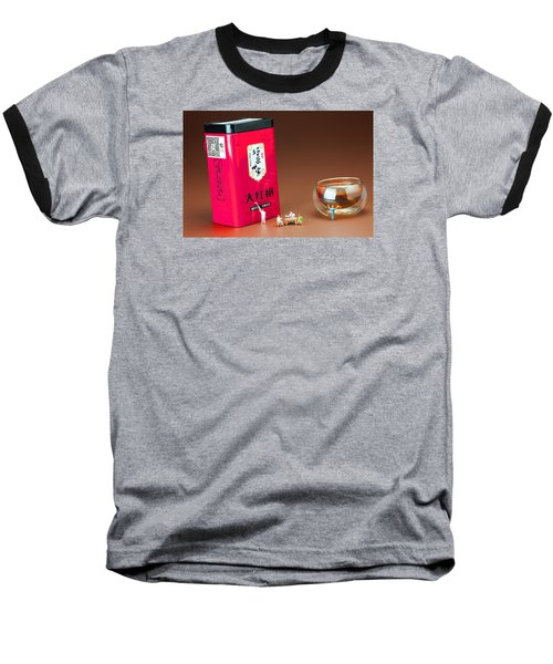 Baseball T-Shirt featuring the photograph Tea Drinking In A Family Little People Big World by Paul Ge