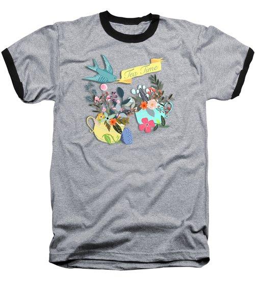 Tea For Two Baseball T-Shirt by Little Bunny Sunshine