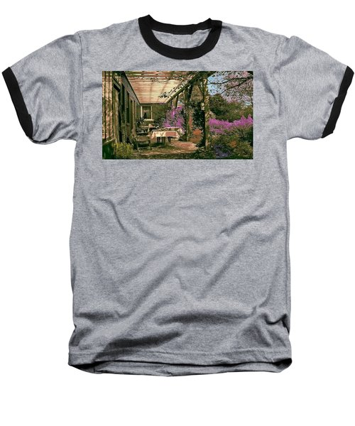 Tea Garden Baseball T-Shirt by John Selmer Sr