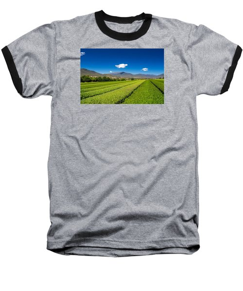Tea In The Valley Baseball T-Shirt by Mark Lucey