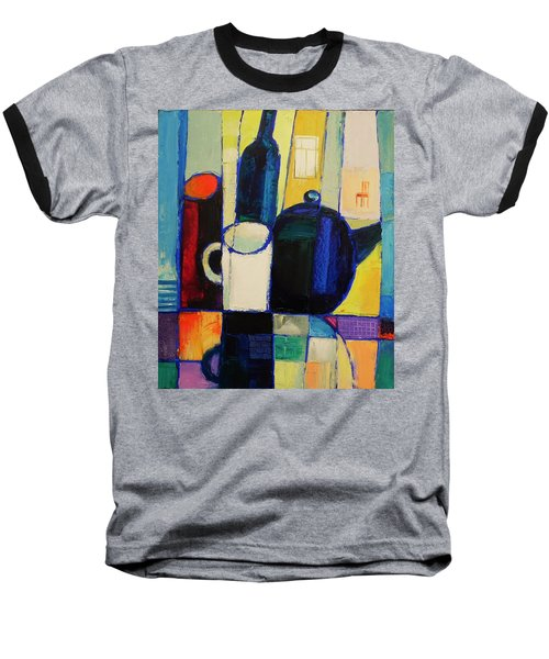 Baseball T-Shirt featuring the painting Tea by Mikhail Zarovny
