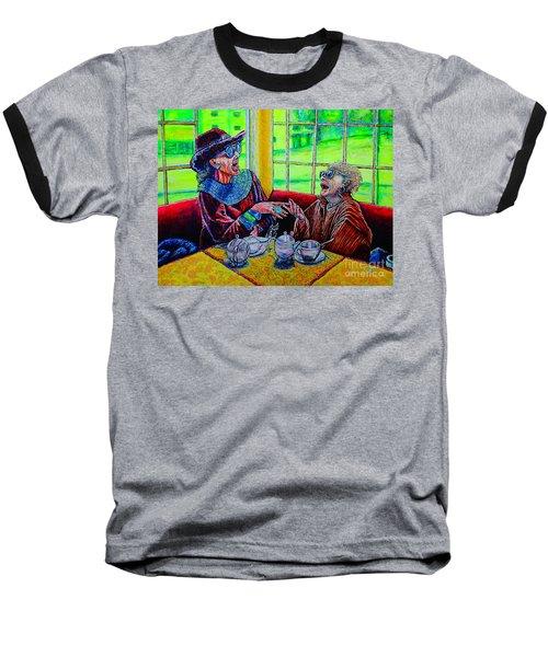 Tea Party Baseball T-Shirt by Viktor Lazarev
