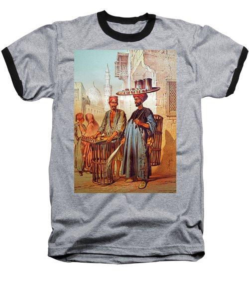 Baseball T-Shirt featuring the photograph Tea Seller by Munir Alawi