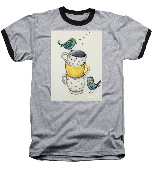 Tea Time Friends Baseball T-Shirt