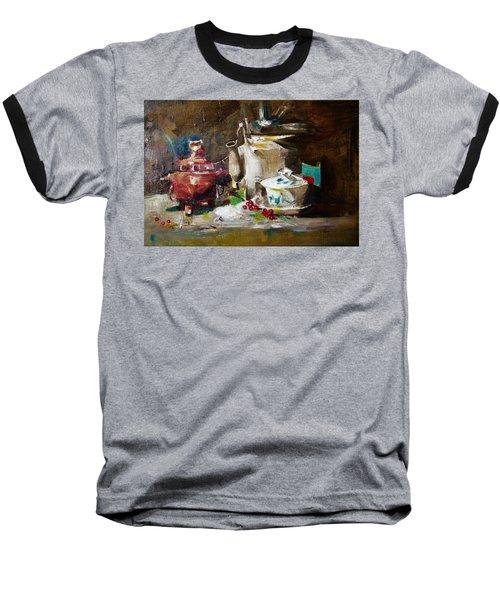 Tea Time Baseball T-Shirt by Khalid Saeed