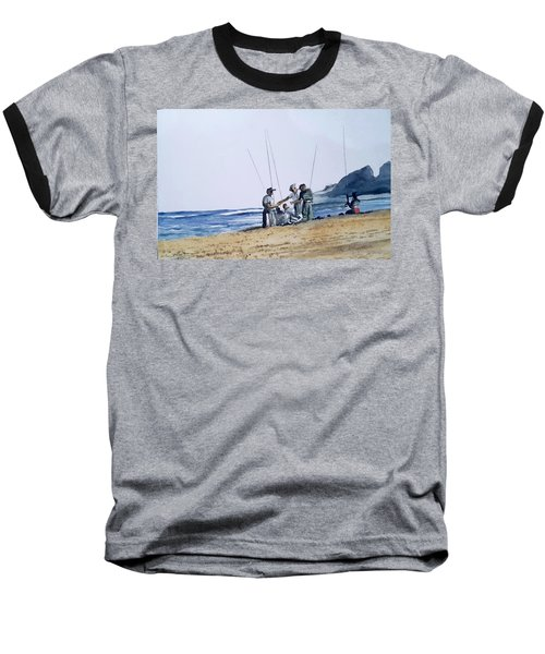 Teach Them To Fish Baseball T-Shirt by Tim Johnson