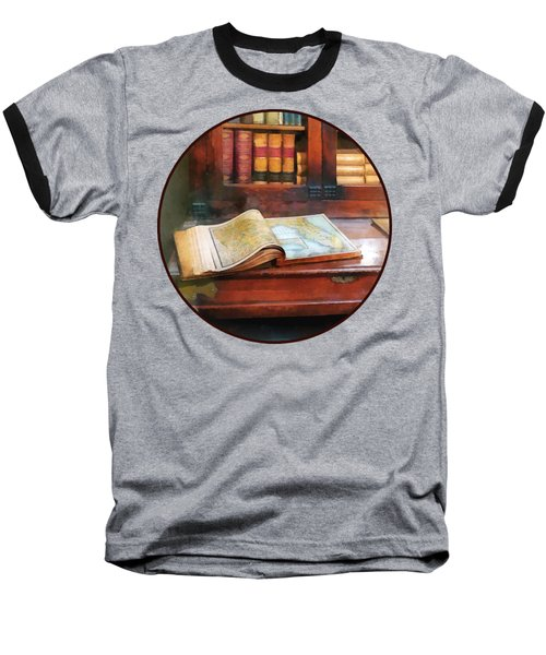 Teacher - Geography Book Baseball T-Shirt by Susan Savad