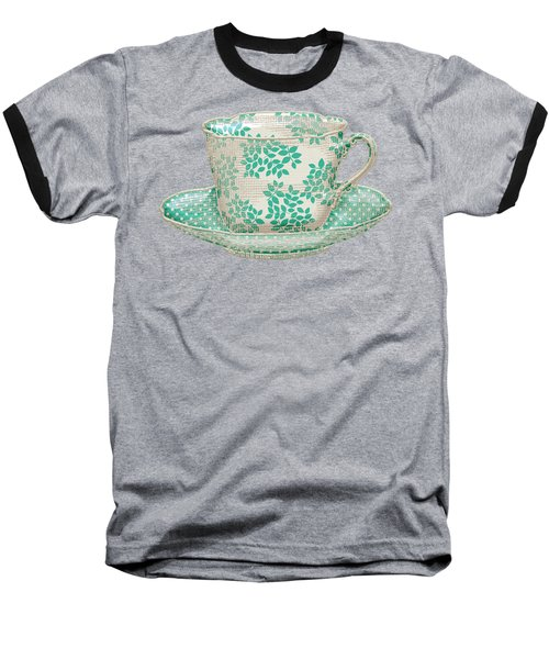 Teacup Garden Party 1 Baseball T-Shirt