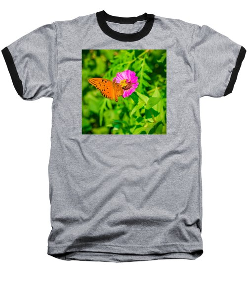 Baseball T-Shirt featuring the photograph Teacup The Butterfly by Ken Stanback