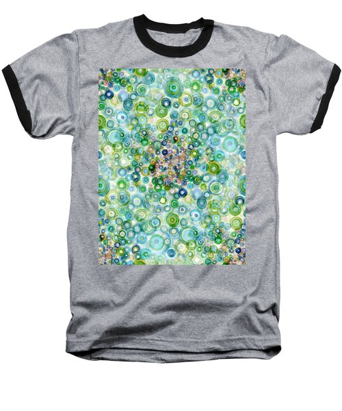 Teal And Olive Concavity Baseball T-Shirt