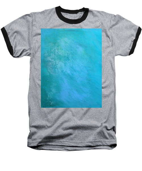Baseball T-Shirt featuring the painting Teal by Antonio Romero