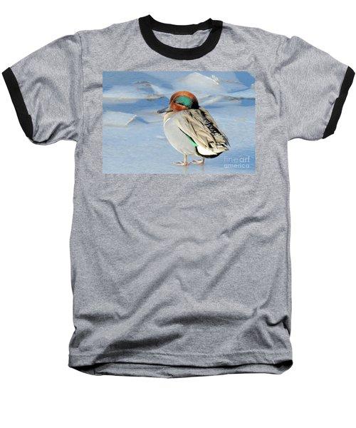 Teal On The Rocks Baseball T-Shirt